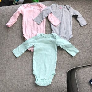 Long sleeve baby girl onesies
